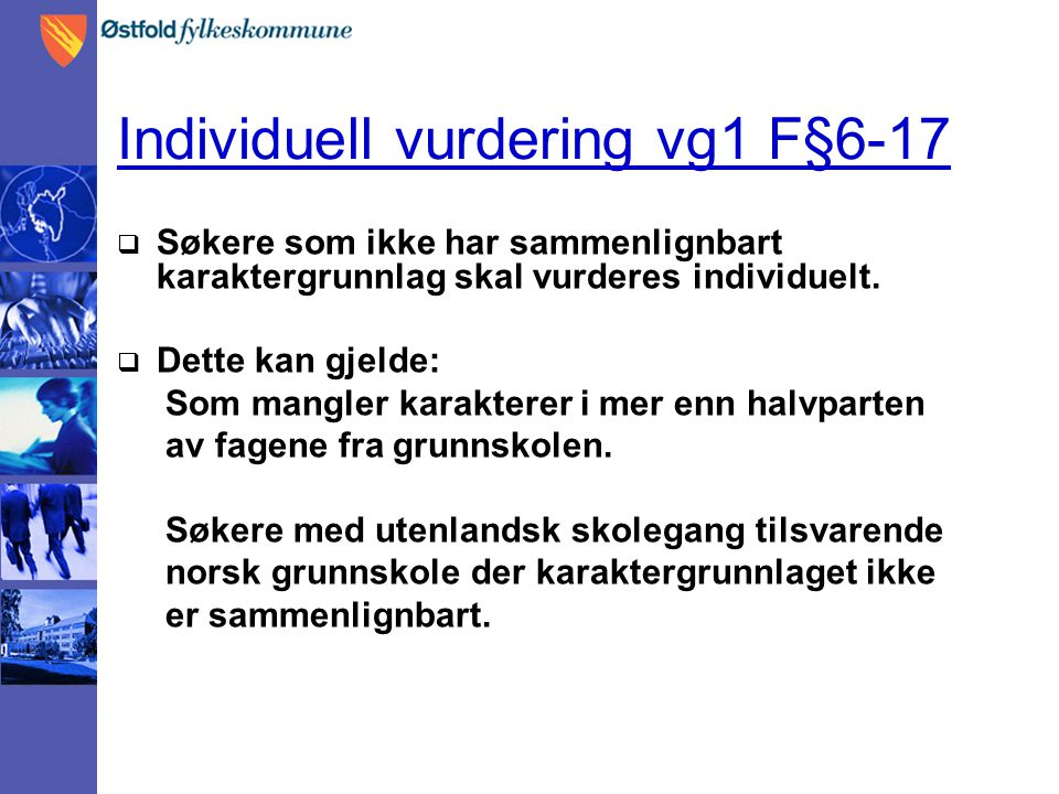 Individuell vurdering vg1 F§6-17