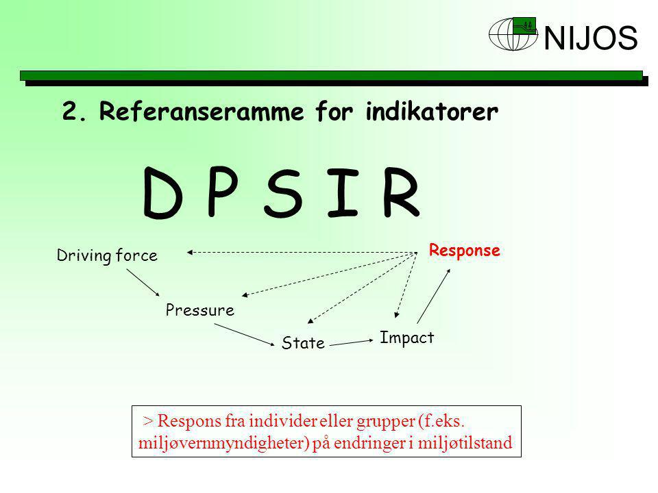 D P S I R 2. Referanseramme for indikatorer