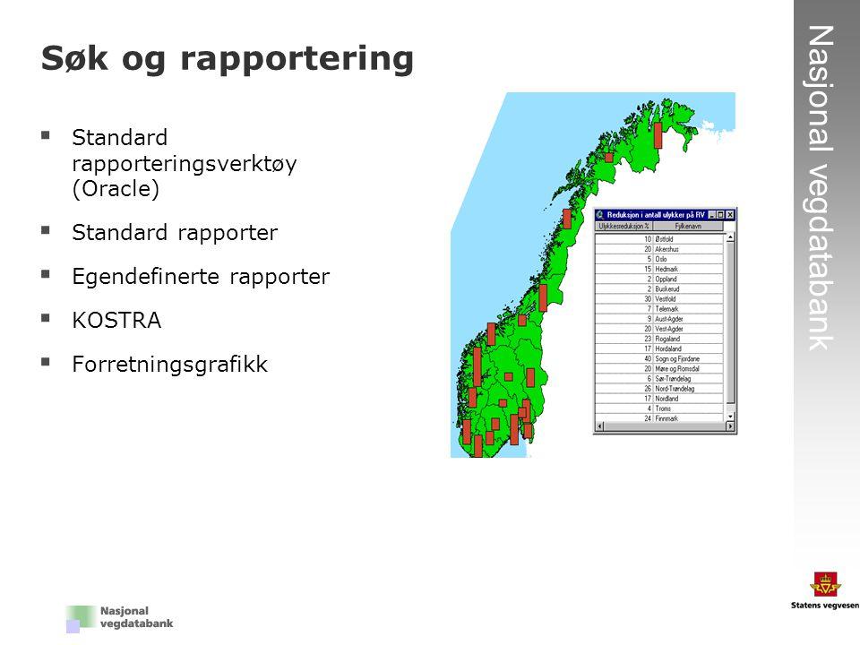 Søk og rapportering Standard rapporteringsverktøy (Oracle)