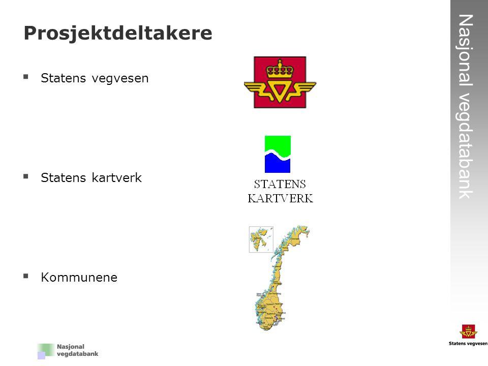 Prosjektdeltakere Statens vegvesen Statens kartverk Kommunene