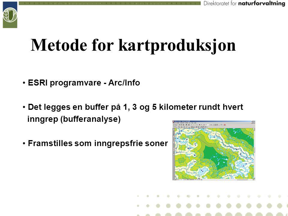 Metode for kartproduksjon