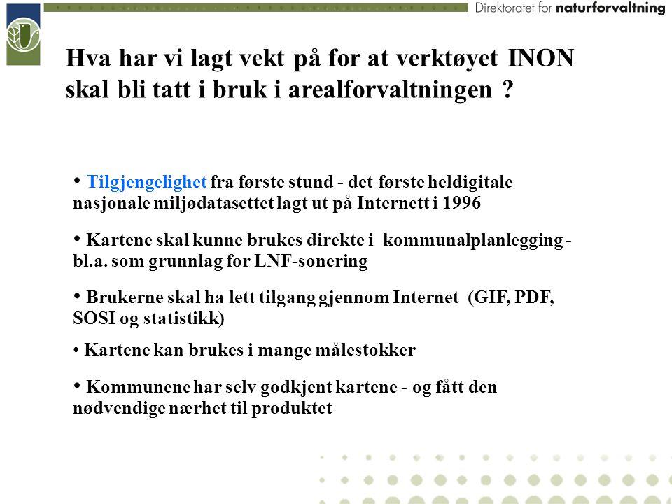 Hva har vi lagt vekt på for at verktøyet INON skal bli tatt i bruk i arealforvaltningen