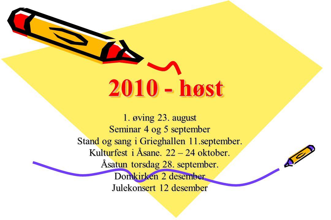 2010 - vår Hovedmålsetting: Syng for oss Landssangerstevne i Bergen