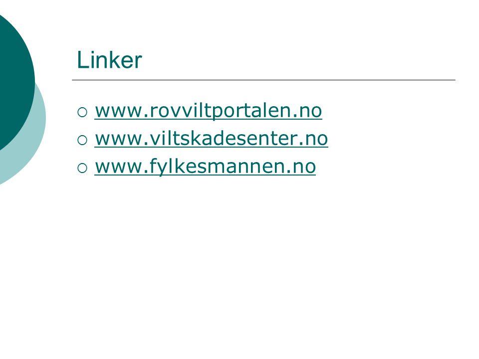 Linker www.rovviltportalen.no www.viltskadesenter.no