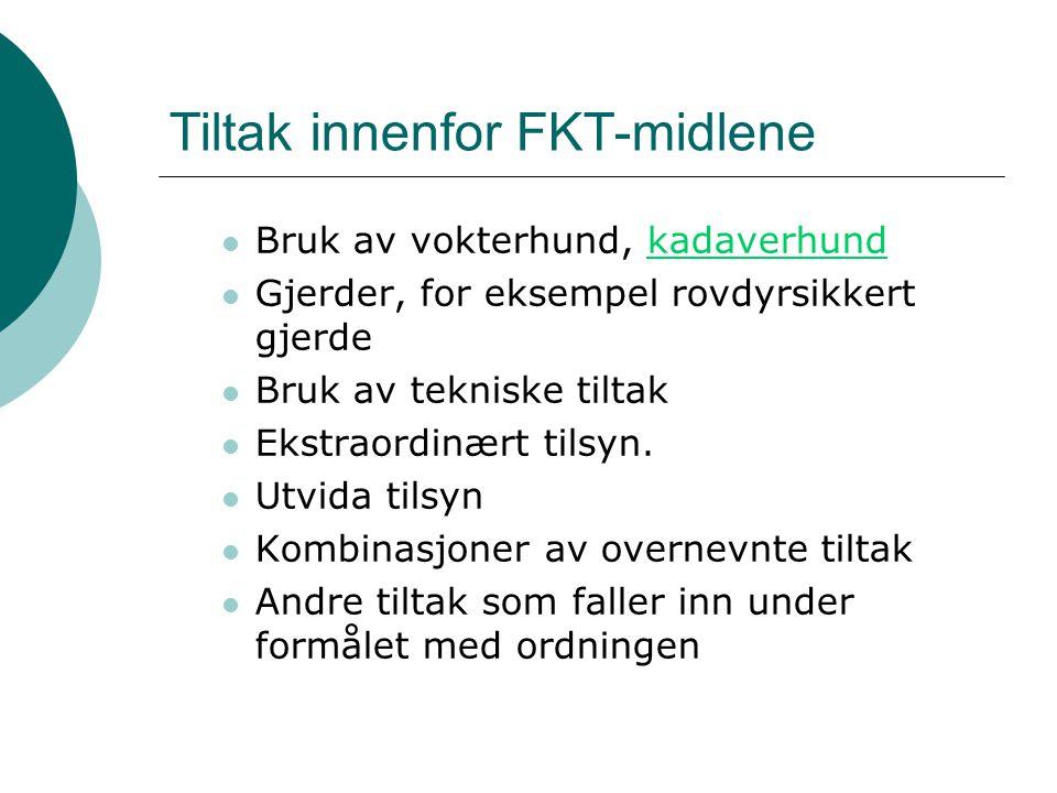 Tiltak innenfor FKT-midlene