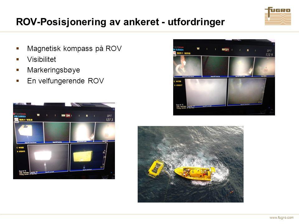 ROV-Posisjonering av ankeret - utfordringer