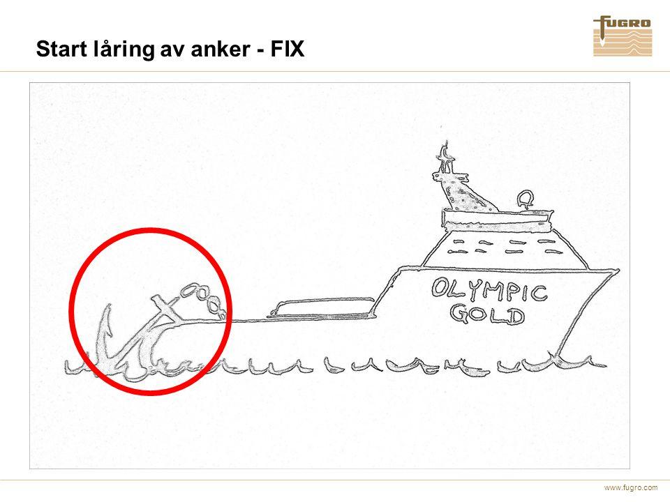 Start låring av anker - FIX