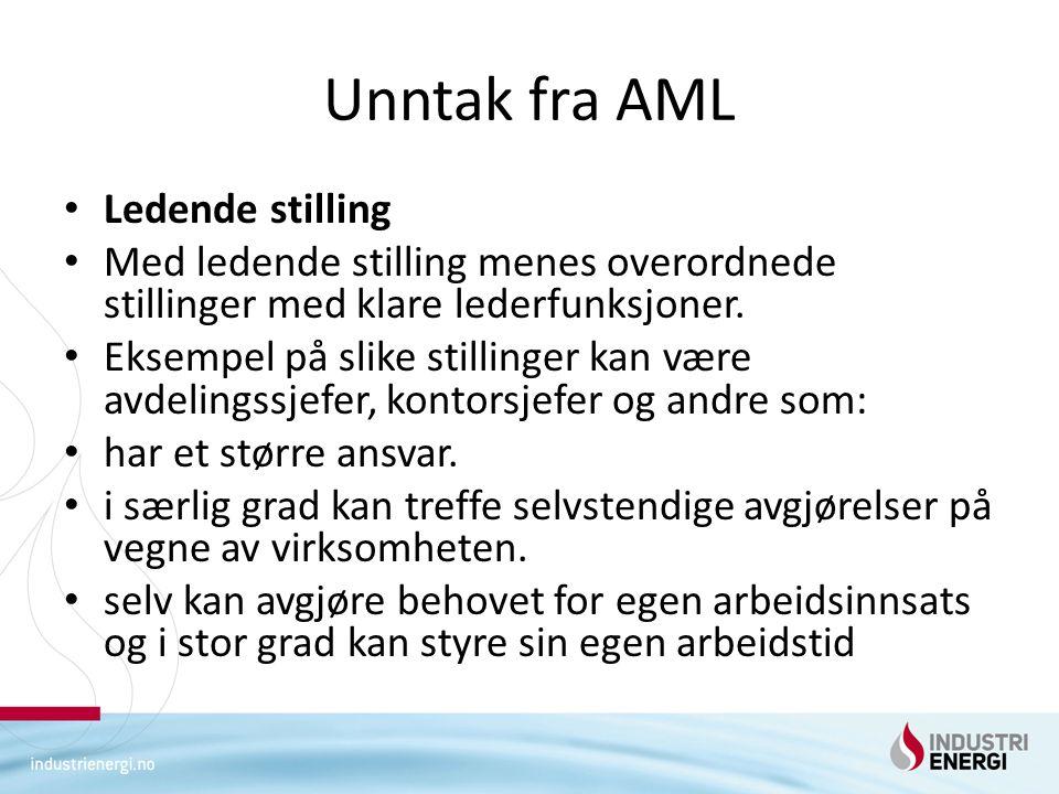 Unntak fra AML Ledende stilling