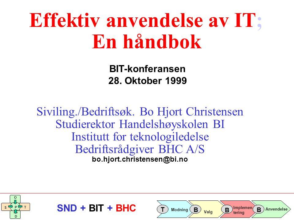 Effektiv anvendelse av IT; En håndbok