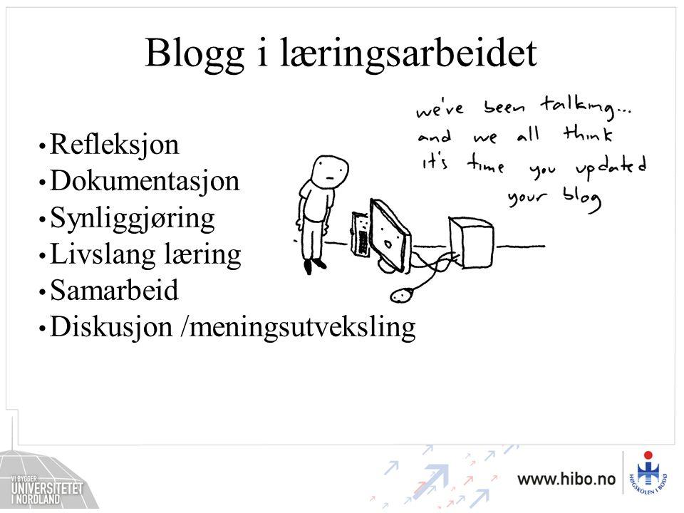 Blogg i læringsarbeidet
