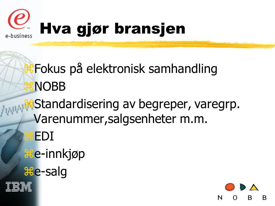 Hva gjør bransjen Fokus på elektronisk samhandling NOBB