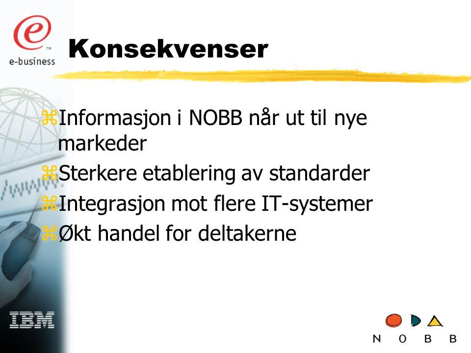 Konsekvenser Informasjon i NOBB når ut til nye markeder