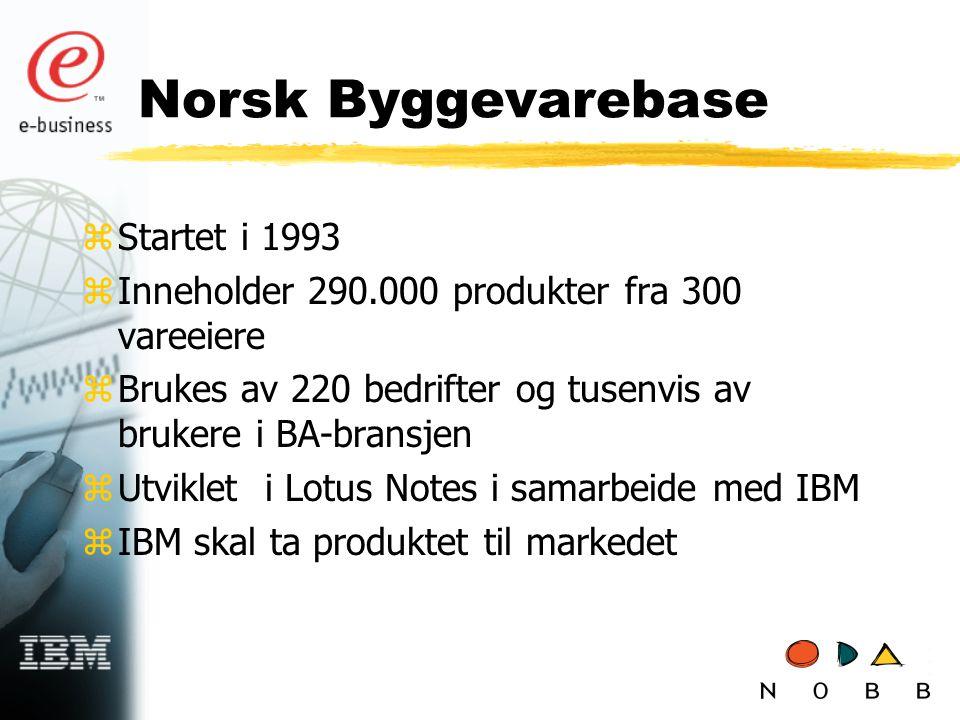 Norsk Byggevarebase Startet i 1993