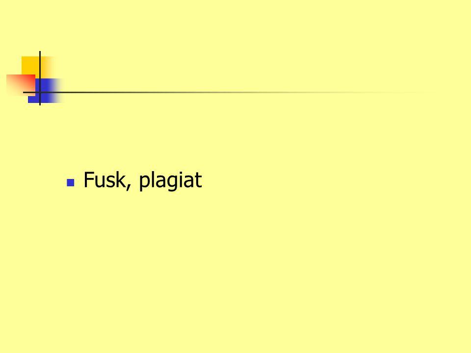 Fusk, plagiat