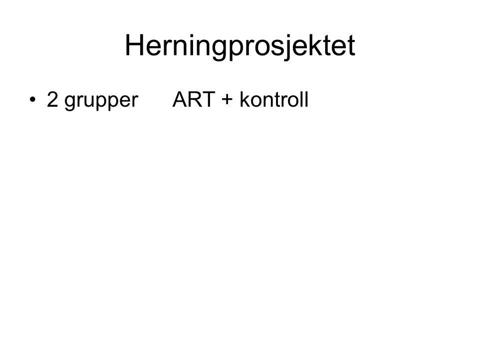 Herningprosjektet 2 grupper ART + kontroll