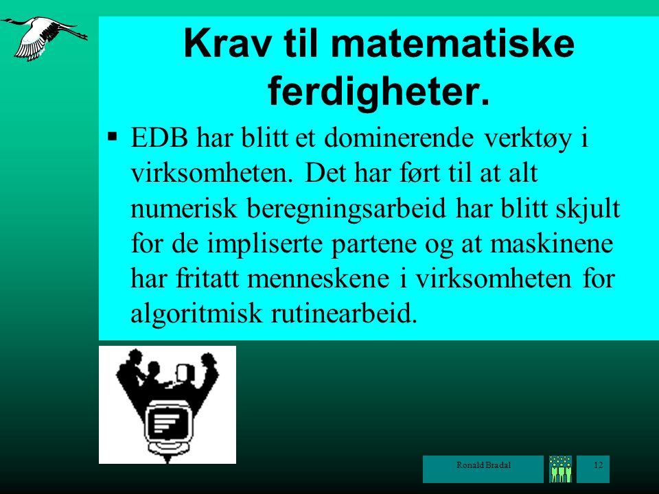 Krav til matematiske ferdigheter.