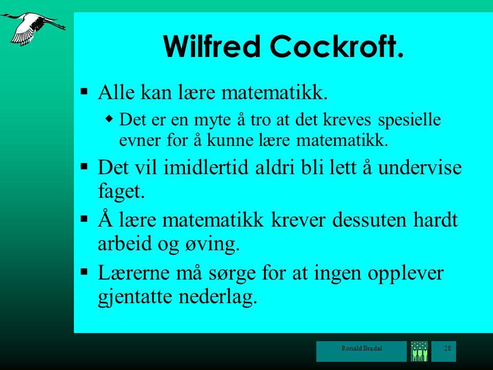 Wilfred Cockroft. Alle kan lære matematikk.