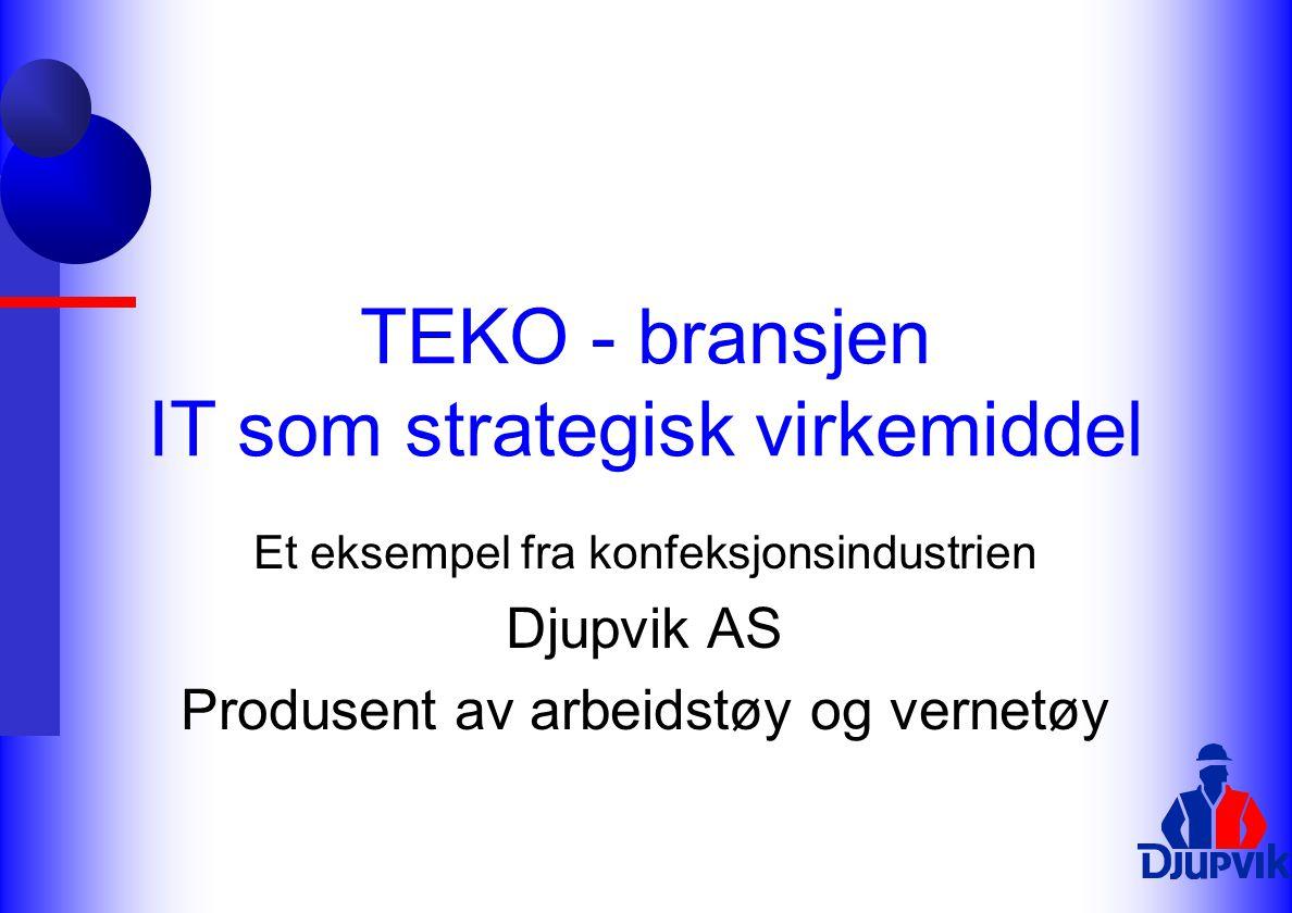 TEKO - bransjen IT som strategisk virkemiddel