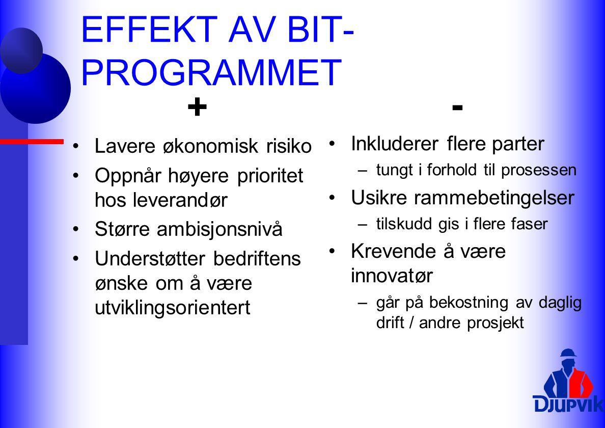 EFFEKT AV BIT-PROGRAMMET