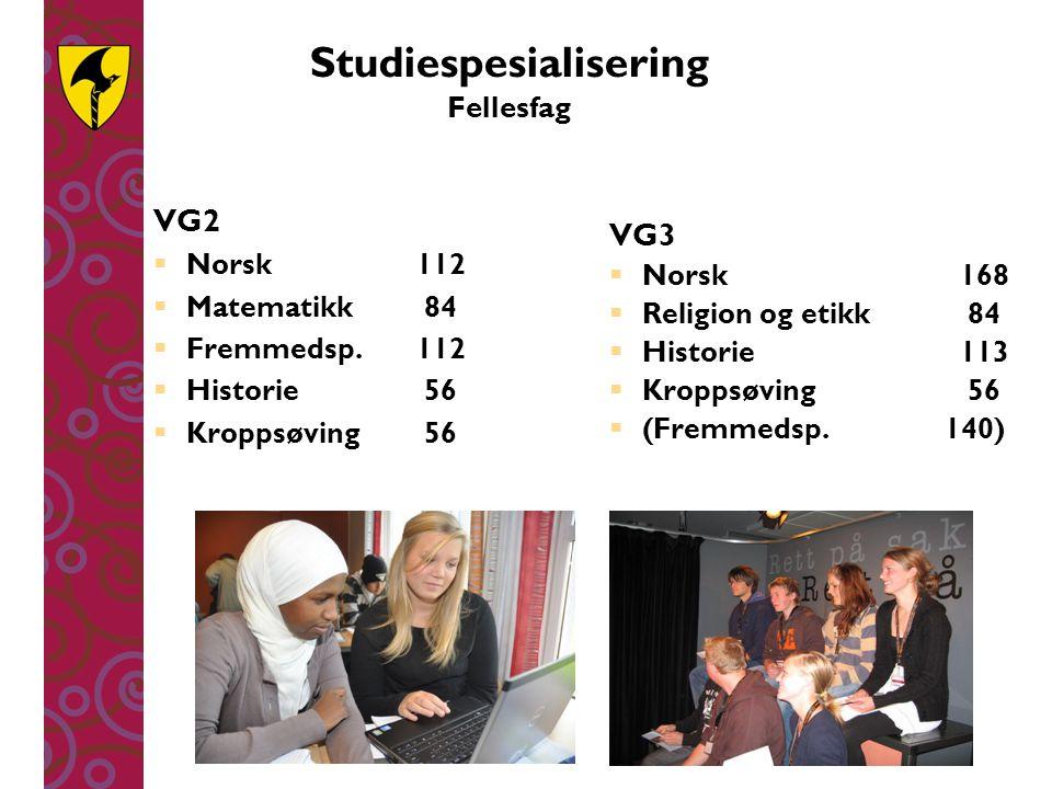 Studiespesialisering Fellesfag