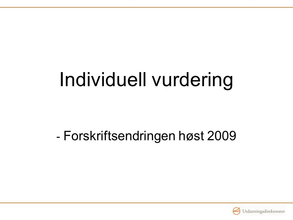 Individuell vurdering