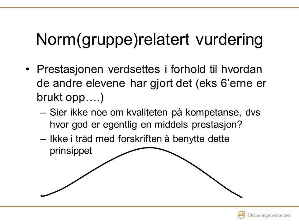 Norm(gruppe)relatert vurdering
