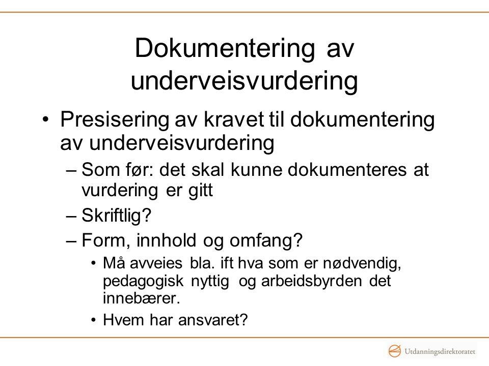 Dokumentering av underveisvurdering