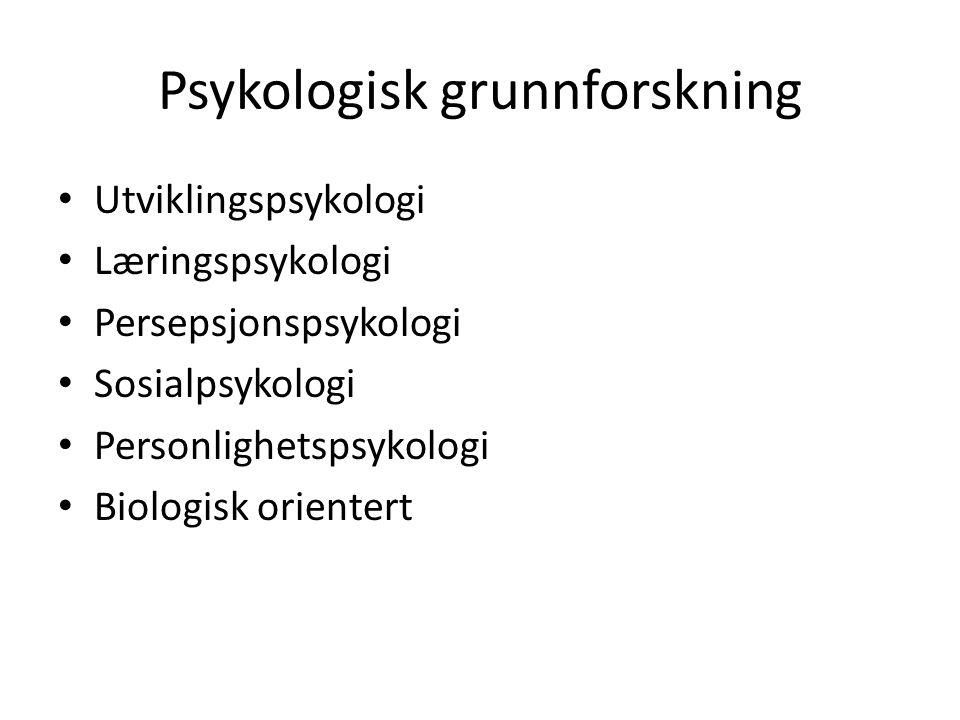 Psykologisk grunnforskning