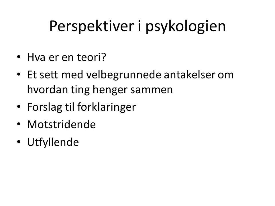 Perspektiver i psykologien