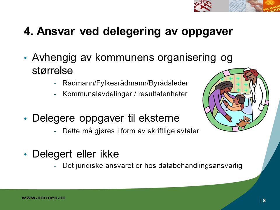 4. Ansvar ved delegering av oppgaver