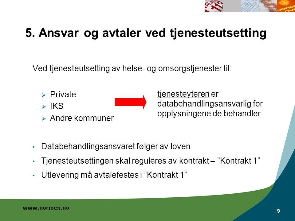 5. Ansvar og avtaler ved tjenesteutsetting