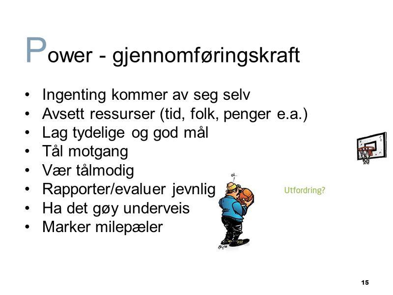 Power - gjennomføringskraft