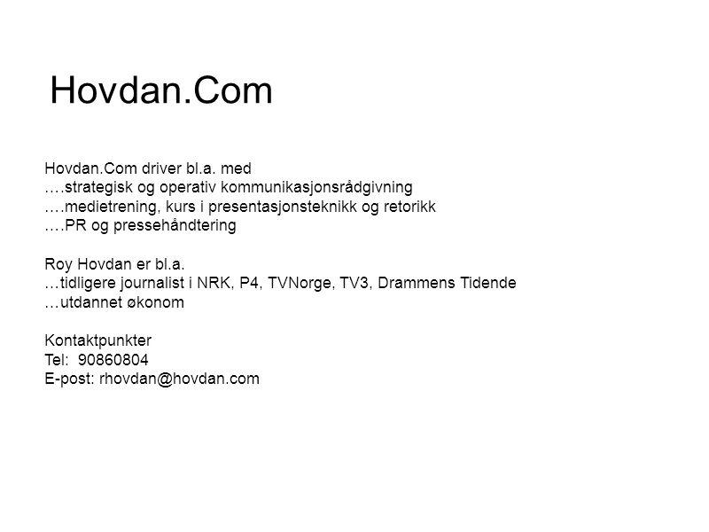 Hovdan.Com Hovdan.Com driver bl.a. med