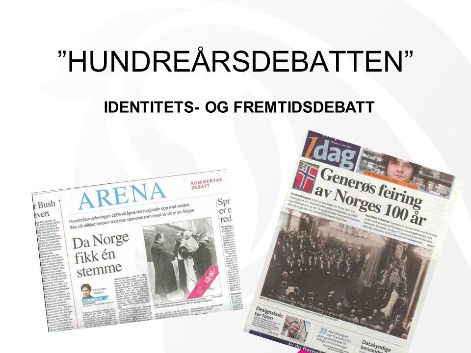 IDENTITETS- OG FREMTIDSDEBATT