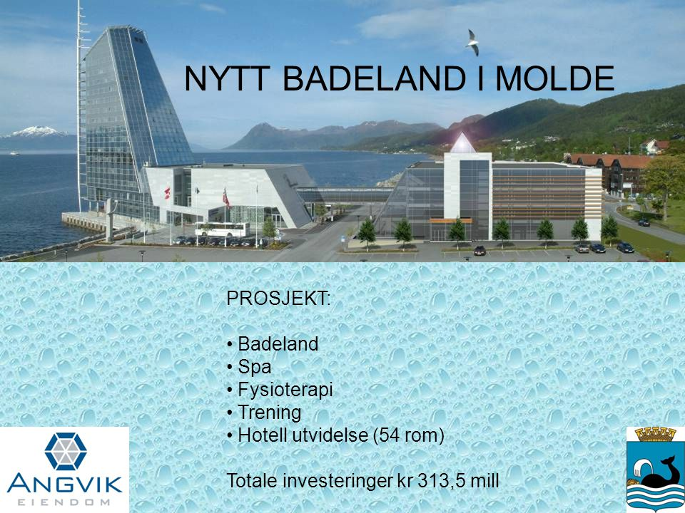 NYTT BADELAND I MOLDE PROSJEKT: Badeland Spa Fysioterapi Trening