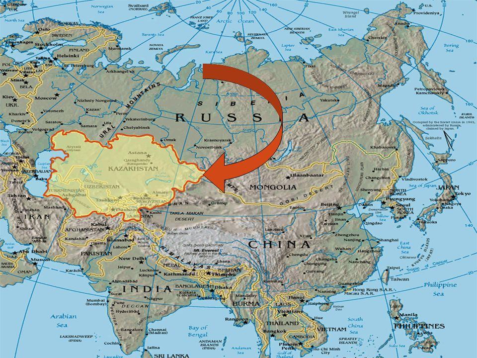 Kazakhstan, Kyrgyzstan, Tajikistan, Uzbekistan and Turkmenistan hørte tidligere til gamle Sovjetunionen, men har vært uavhengig siden oppløsningen av Sovjetunionen i 1991.