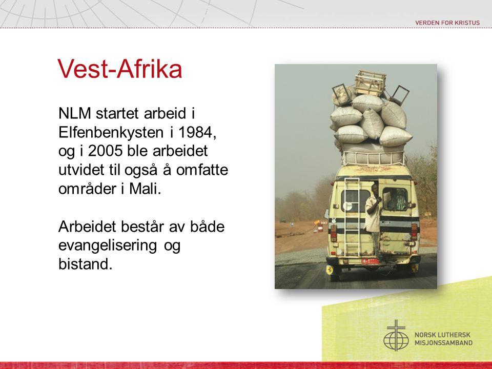 Vest-Afrika NLM startet arbeid i Elfenbenkysten i 1984, og i 2005 ble arbeidet utvidet til også å omfatte områder i Mali.