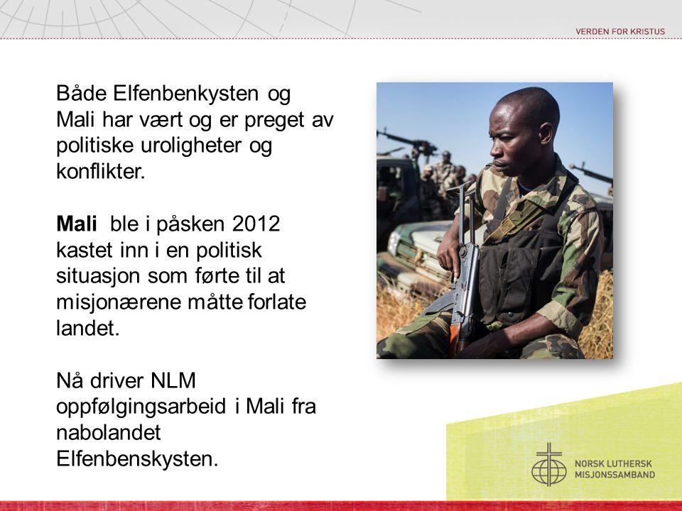 Både Elfenbenkysten og Mali har vært og er preget av politiske uroligheter og konflikter.