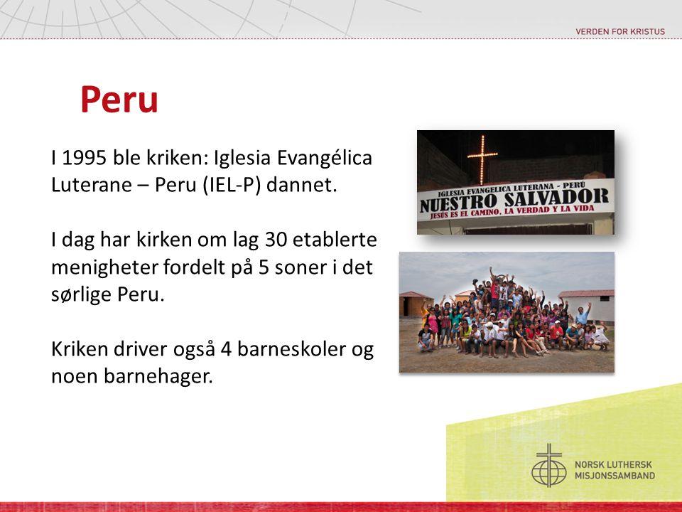 Peru I 1995 ble kriken: Iglesia Evangélica Luterane – Peru (IEL-P) dannet.