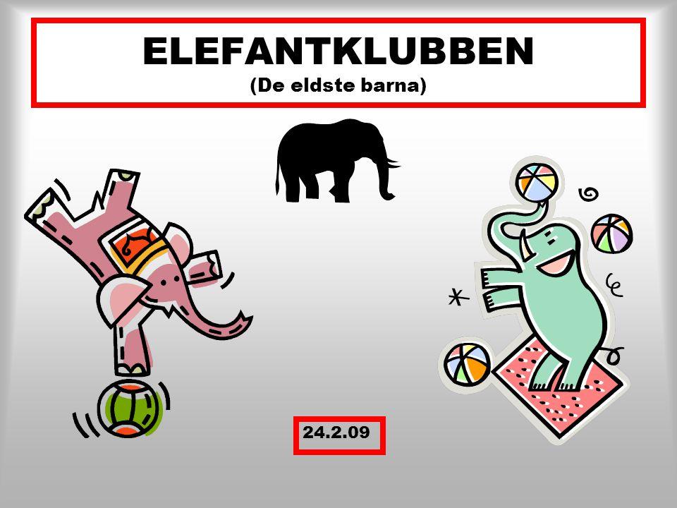 ELEFANTKLUBBEN (De eldste barna)