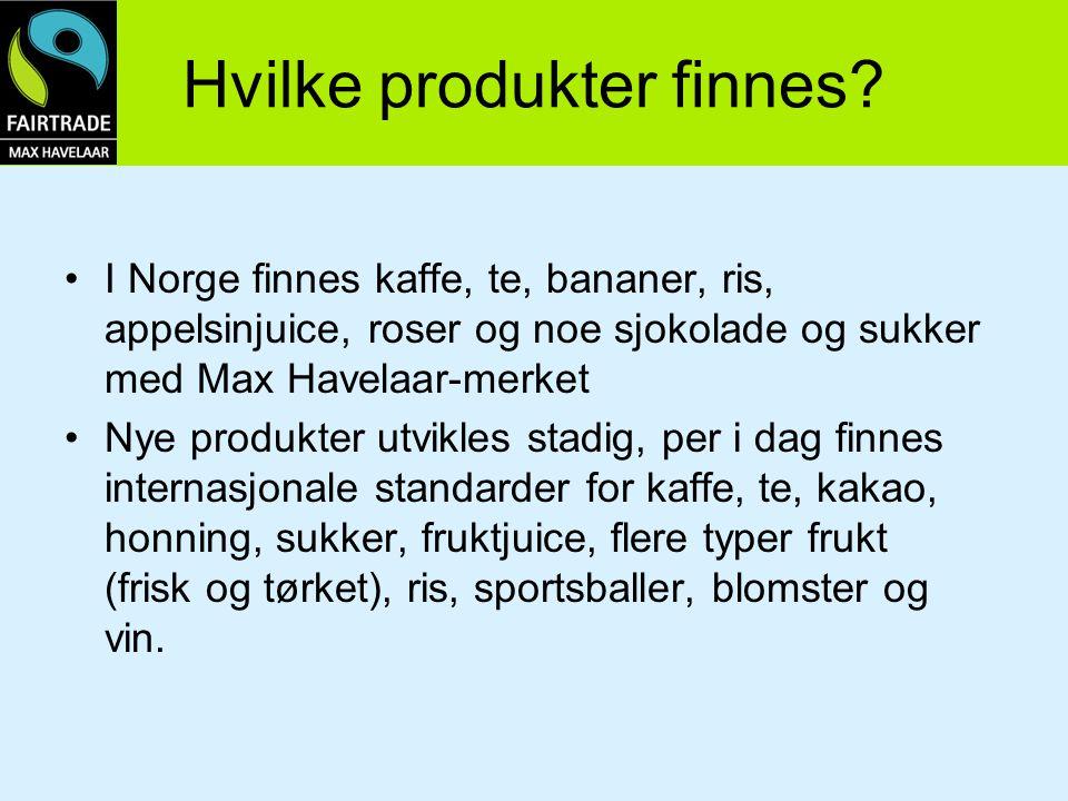 Hvilke produkter finnes