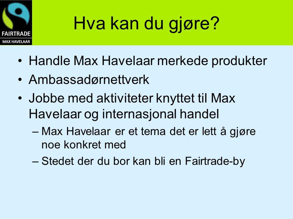 Hva kan du gjøre Handle Max Havelaar merkede produkter