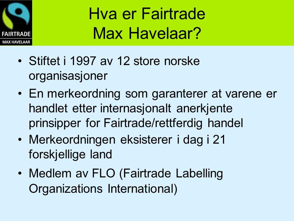 Hva er Fairtrade Max Havelaar