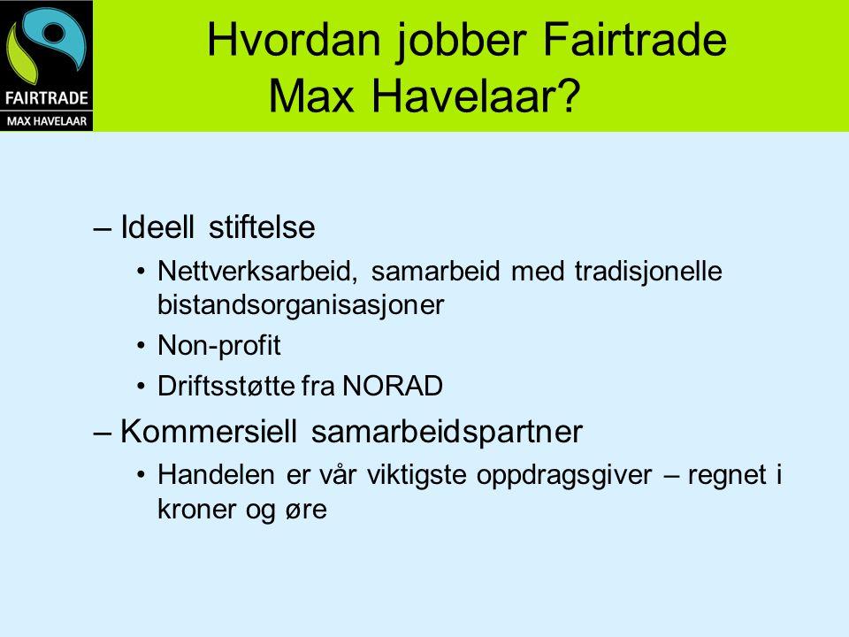 Hvordan jobber Fairtrade Max Havelaar