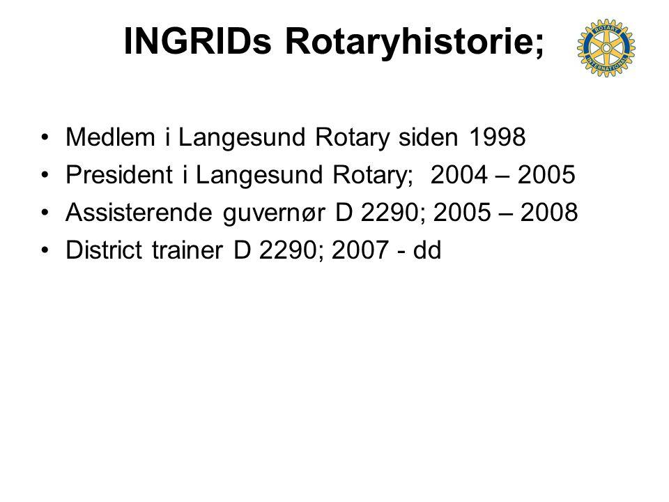INGRIDs Rotaryhistorie;
