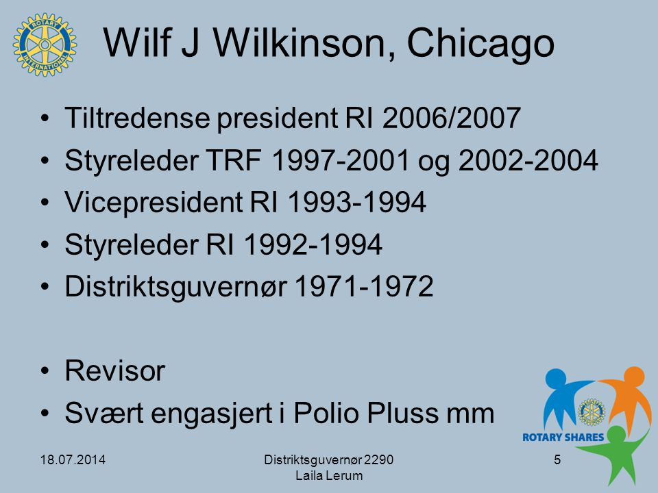 Wilf J Wilkinson, Chicago
