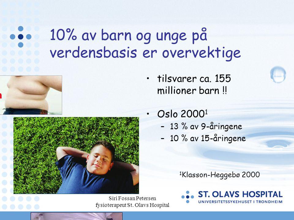 10% av barn og unge på verdensbasis er overvektige