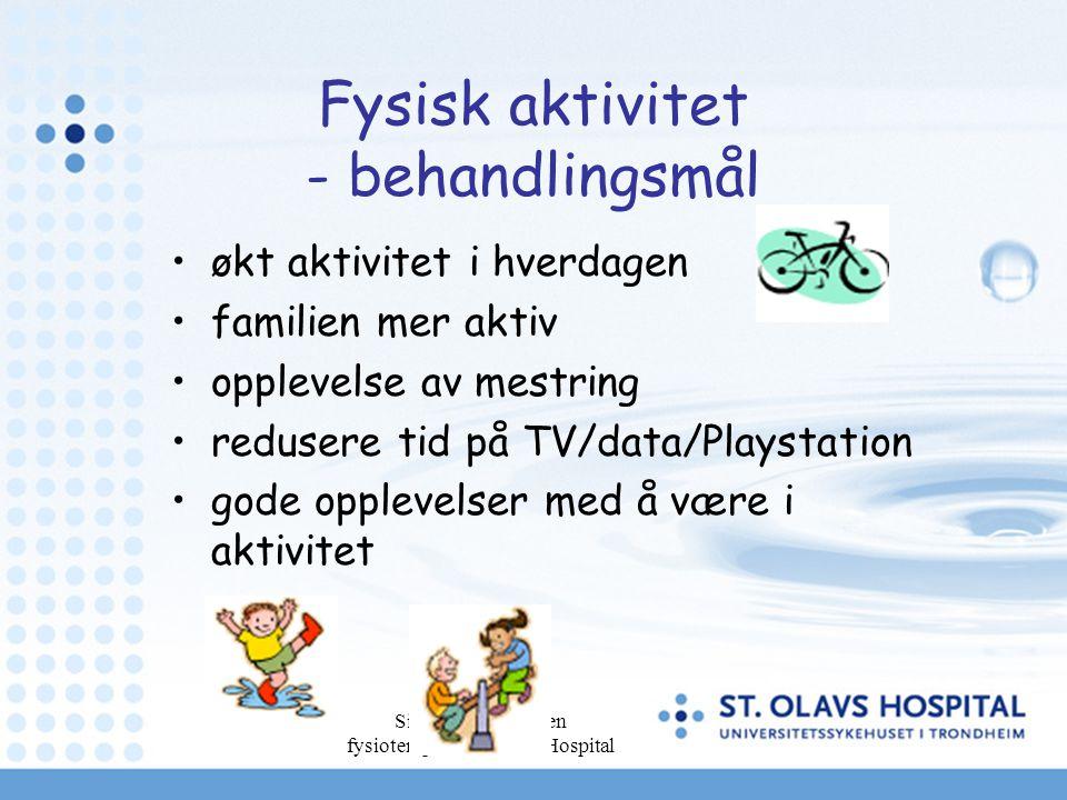Fysisk aktivitet - behandlingsmål