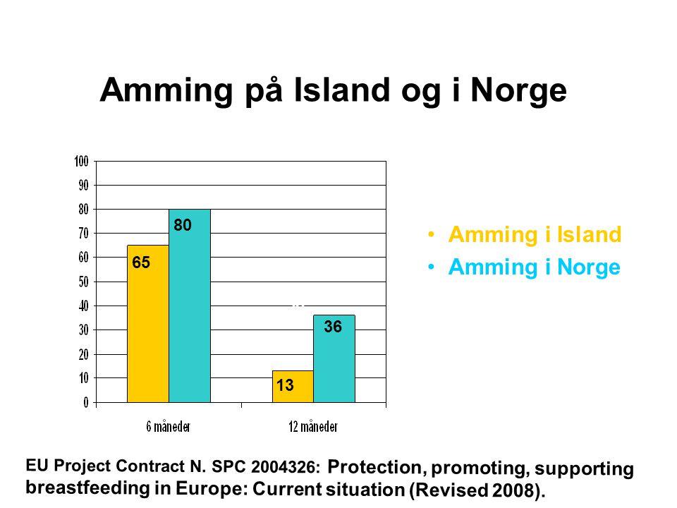 Amming på Island og i Norge