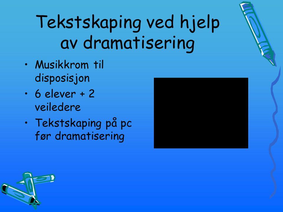 Tekstskaping ved hjelp av dramatisering